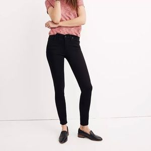"""Madewell 8"""" Skinny Jeans in Carbondale Wash Black"""